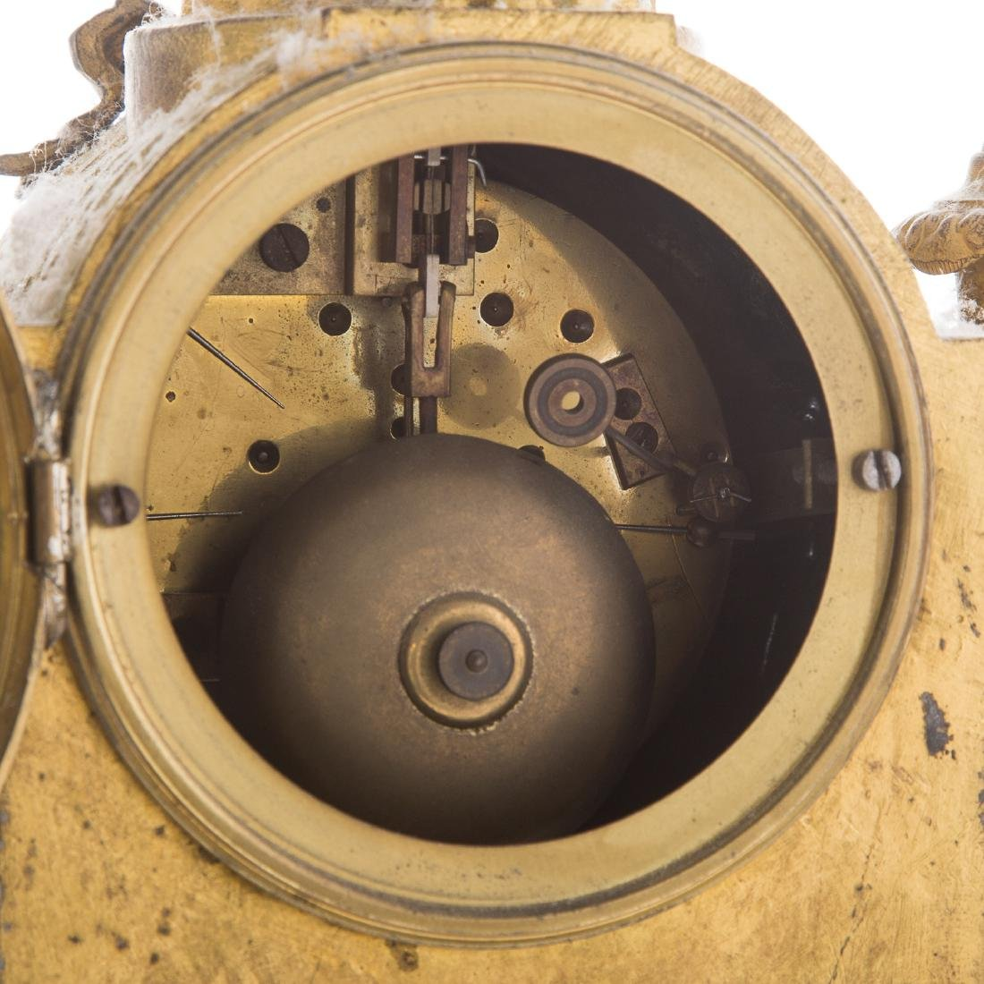 Phillipe H. Mourey gilt-metal clock garniture - 5