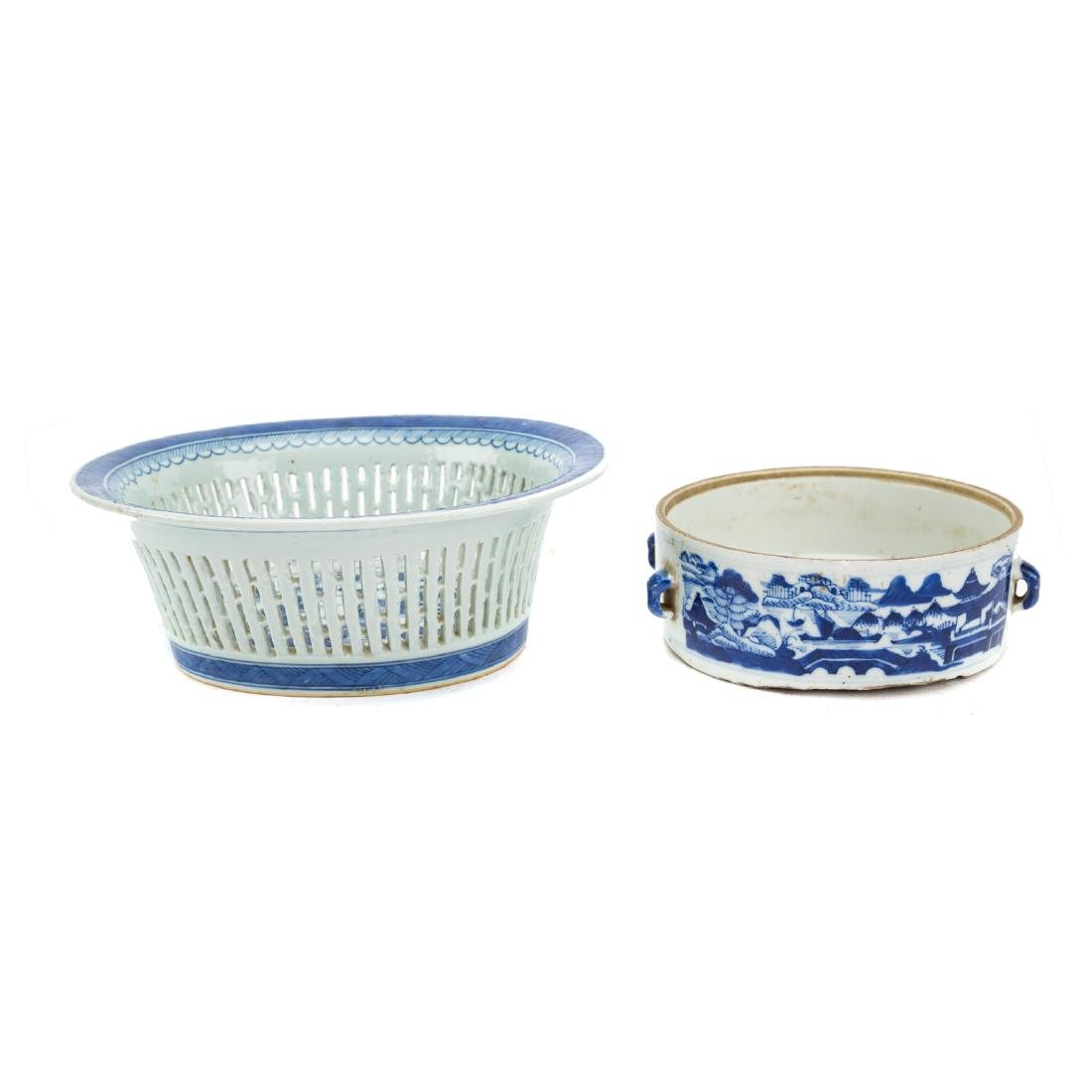 Seven Chinese Export Canton porcelain objects - 4