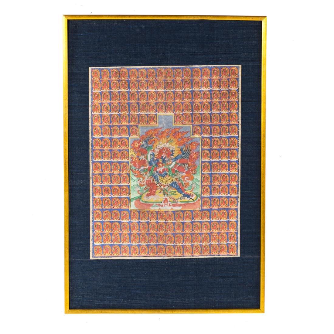 Tibetan thangka of Hayagriva