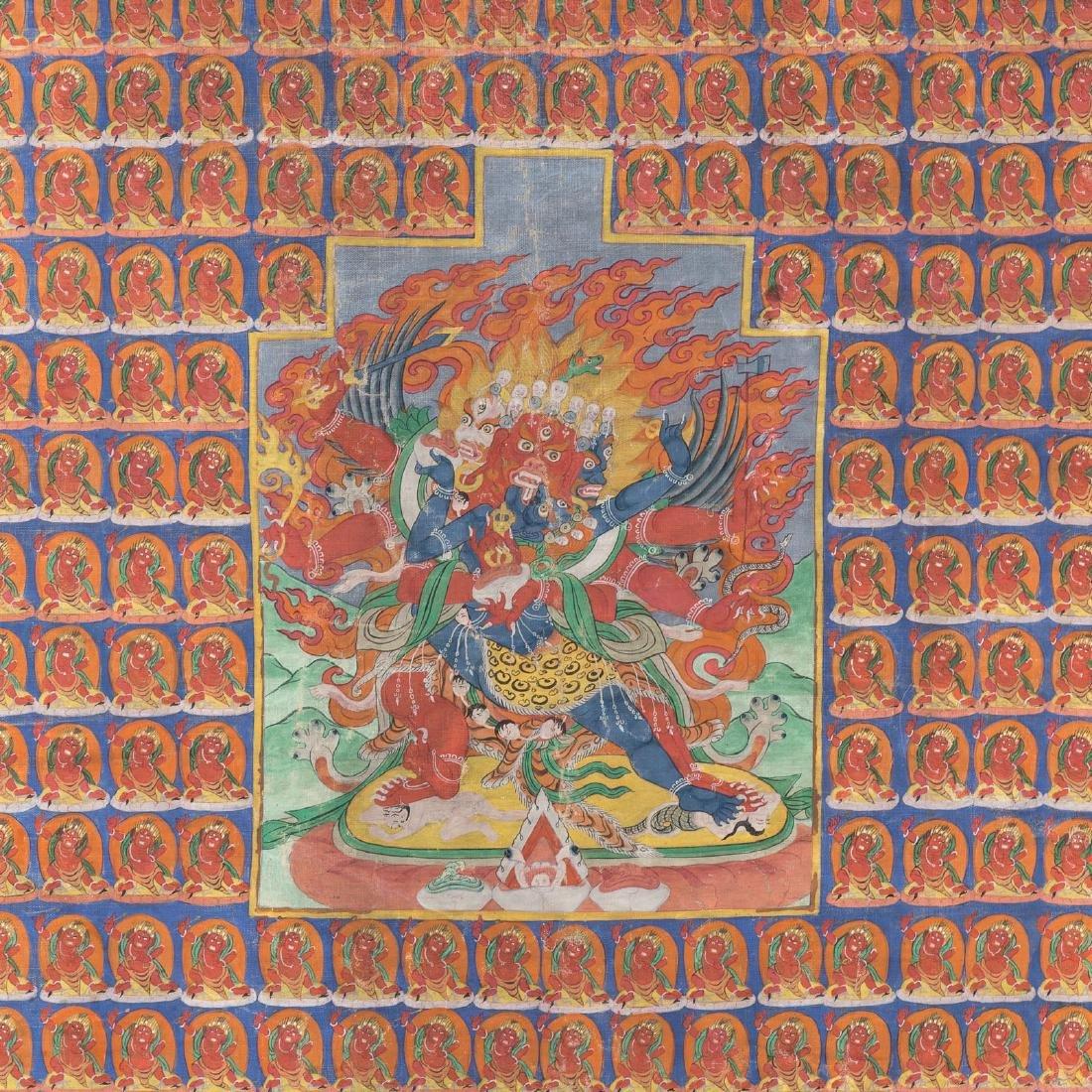 Tibetan thangka of Hayagriva - 2