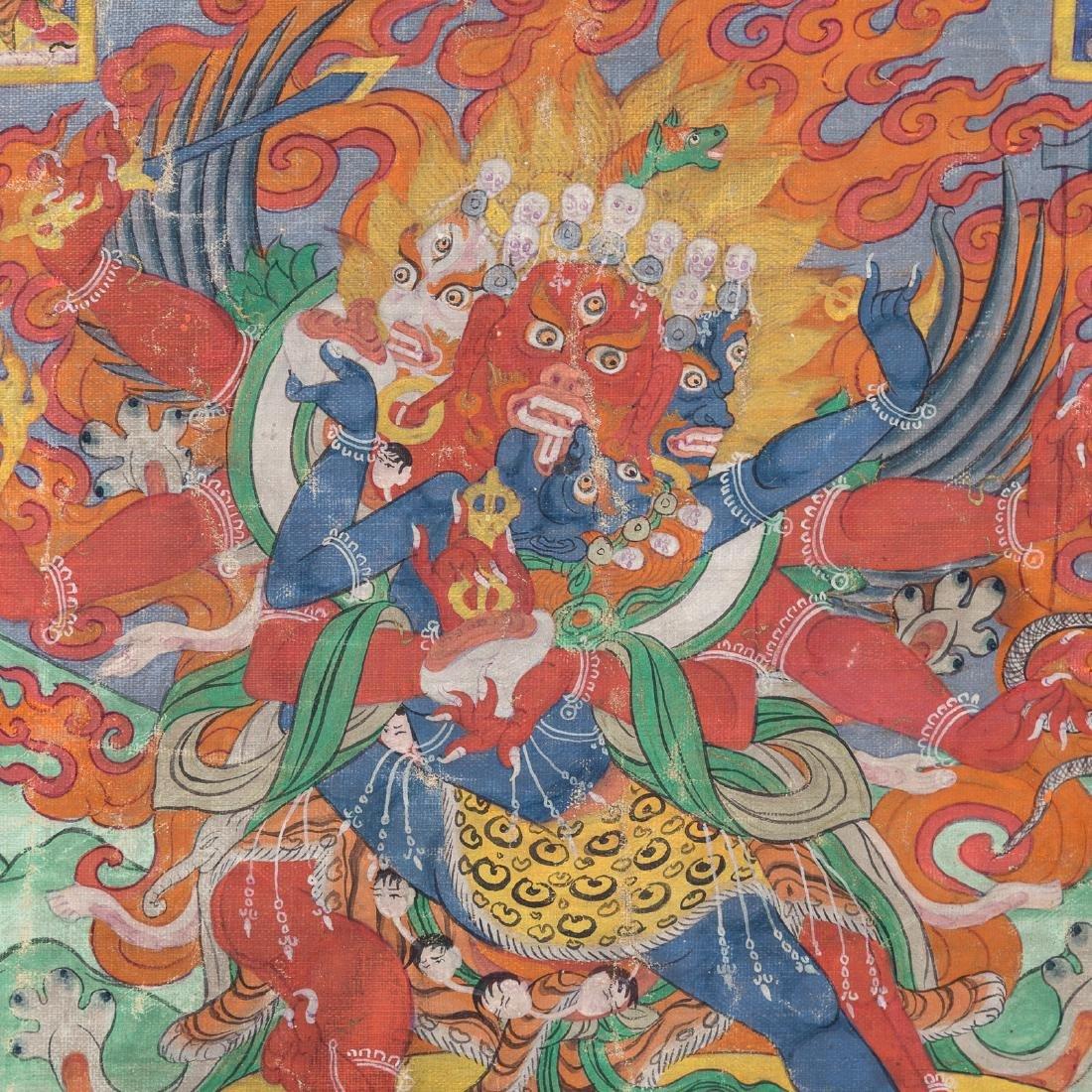 Tibetan thangka of Hayagriva - 3