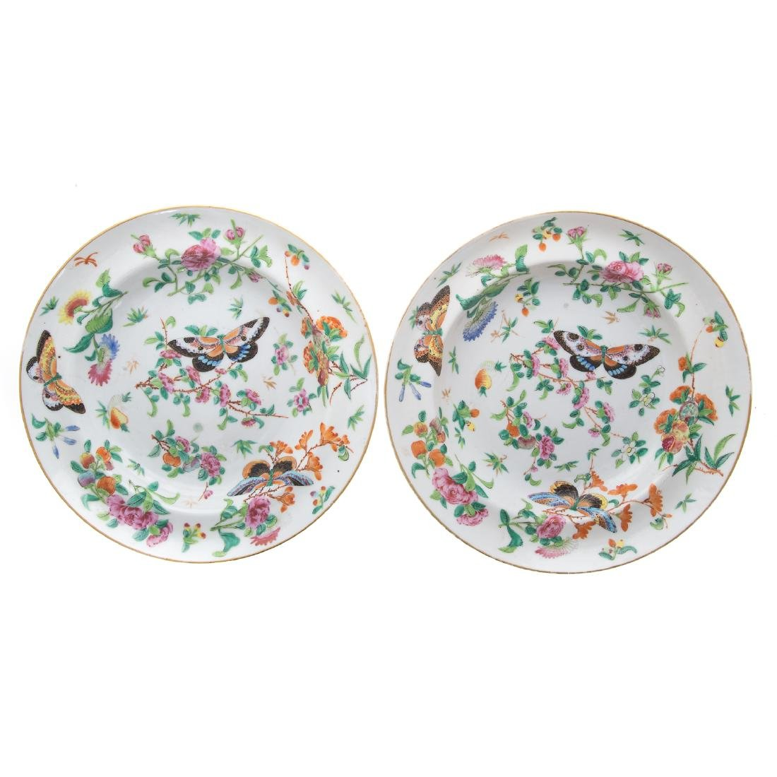Six Chinese Export Famille Rose soup plates - 2
