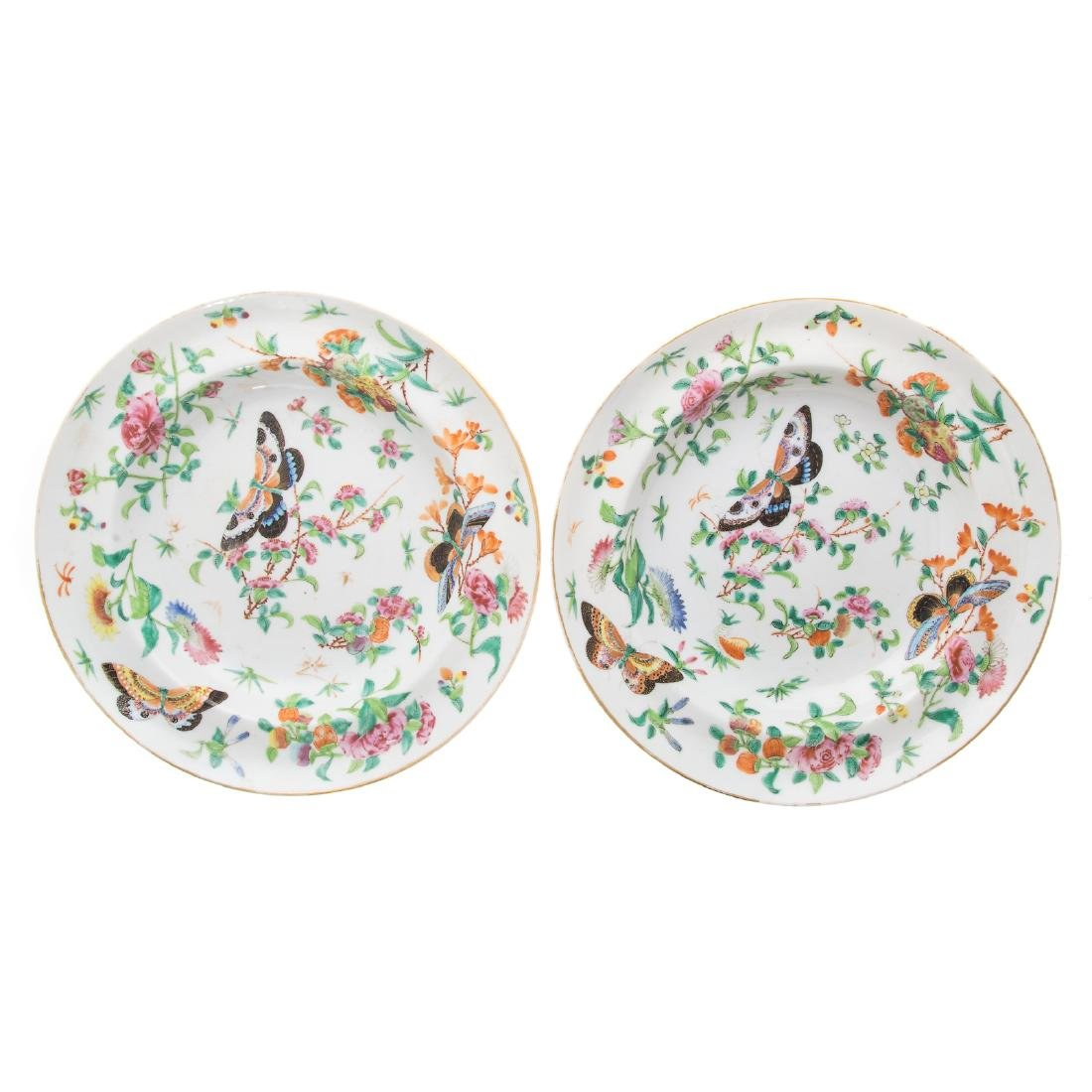 Six Chinese Export Famille Rose soup plates - 4