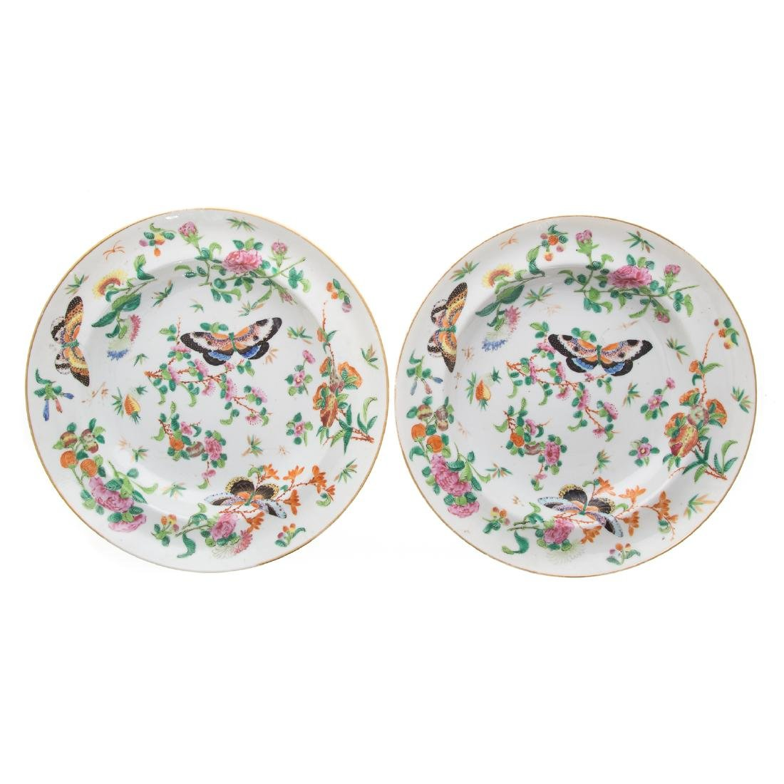 Six Chinese Export Famille Rose soup plates - 5
