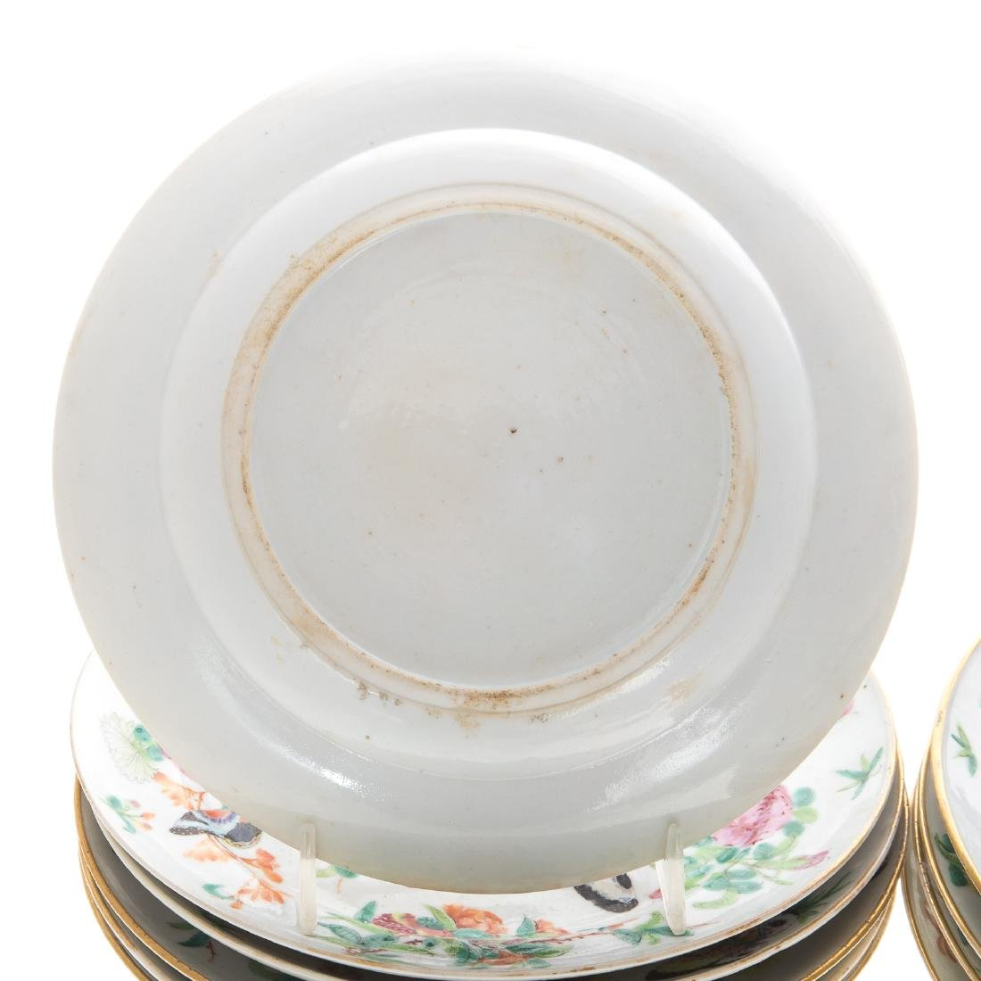 11 Chinese Export Famille Rose plates - 4