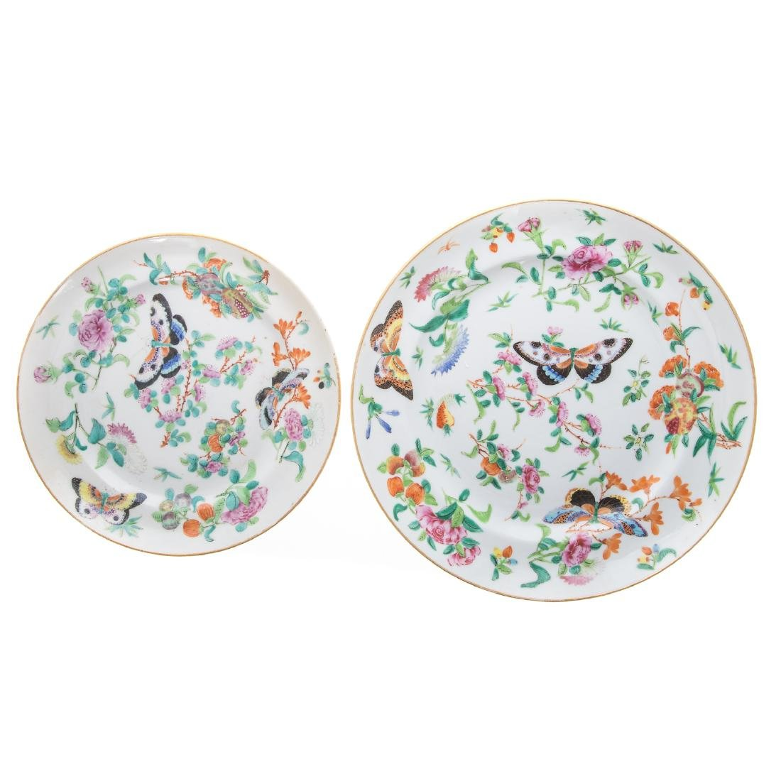 11 Chinese Export Famille Rose plates - 5