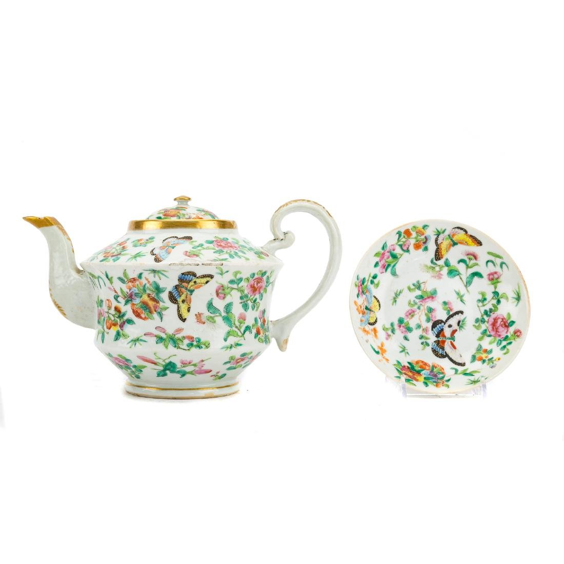 13-piece Chinese Export Famille Rose tea set - 2