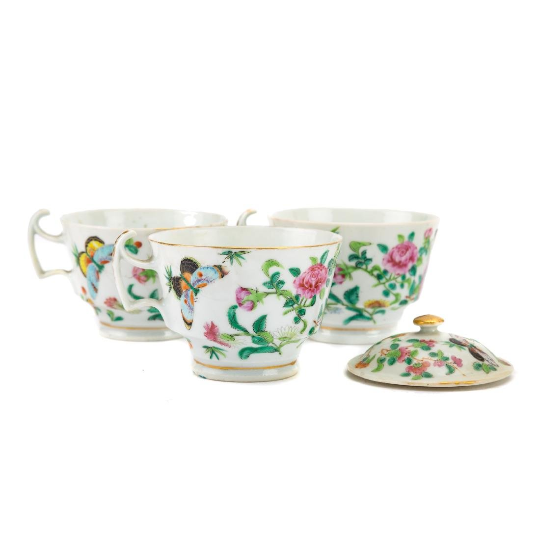 13-piece Chinese Export Famille Rose tea set - 3