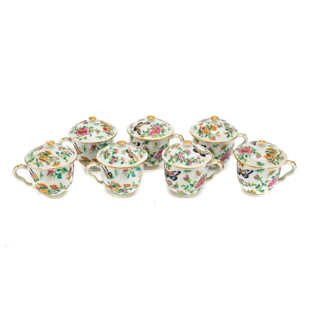 13-piece Chinese Export Famille Rose tea set - 4