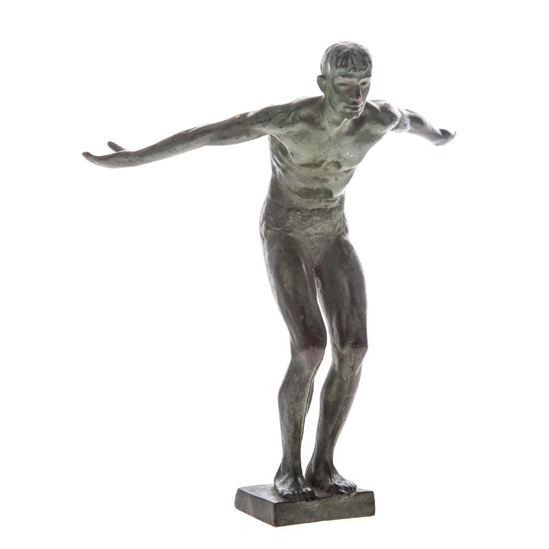 Joseph Brown. Diver, bronze
