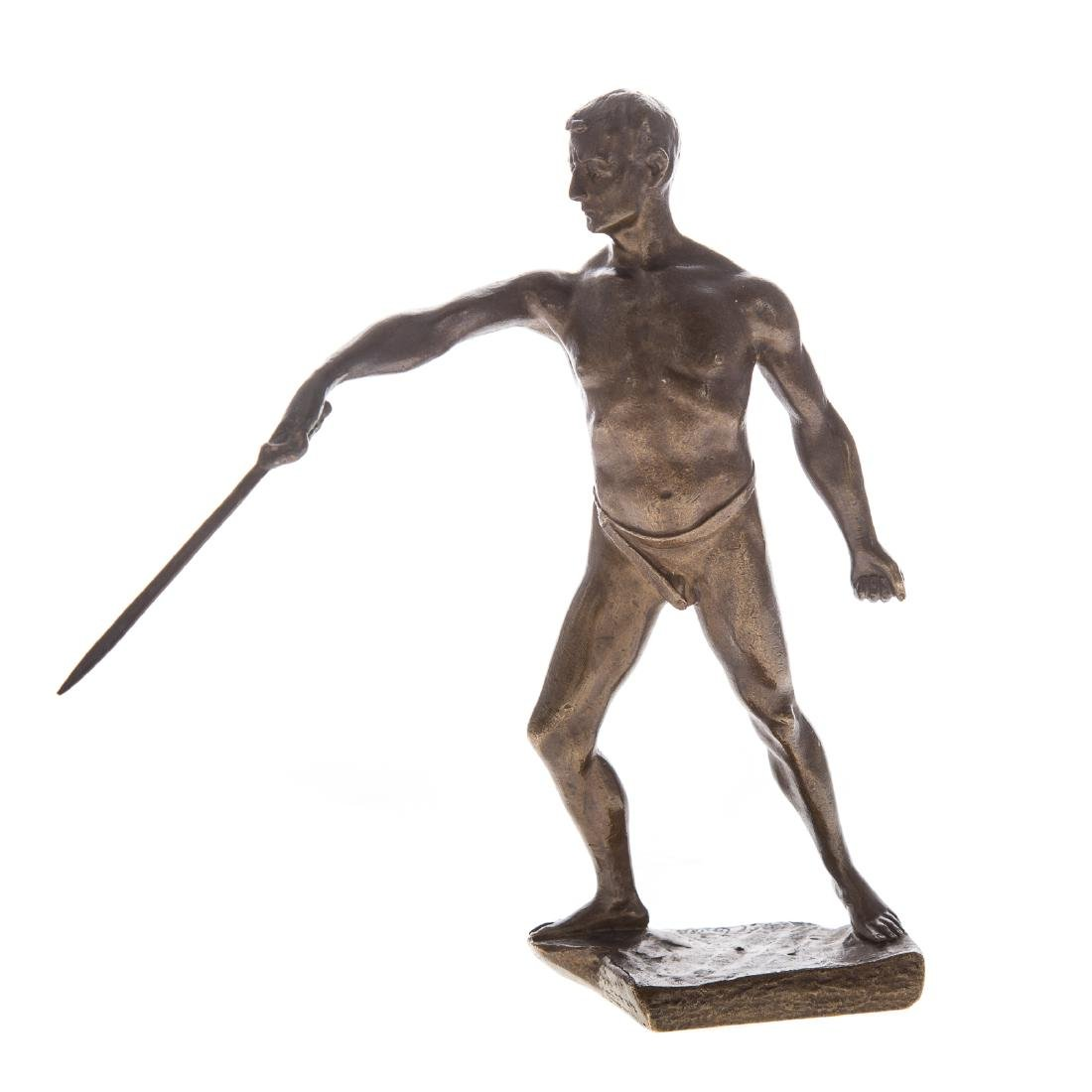 Continental bronze of Fencer