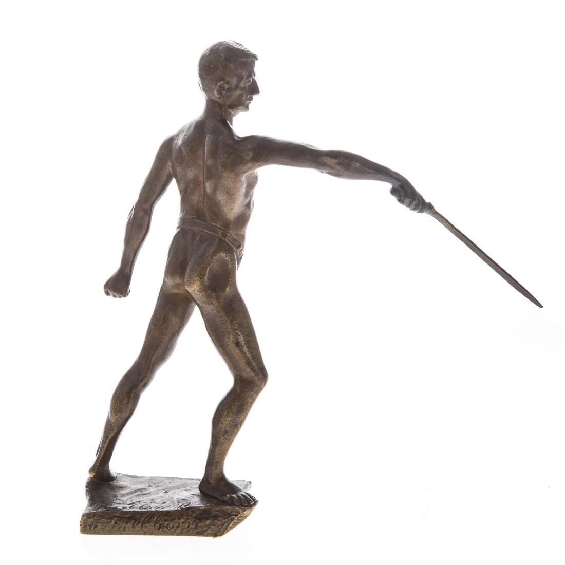 Continental bronze of Fencer - 2