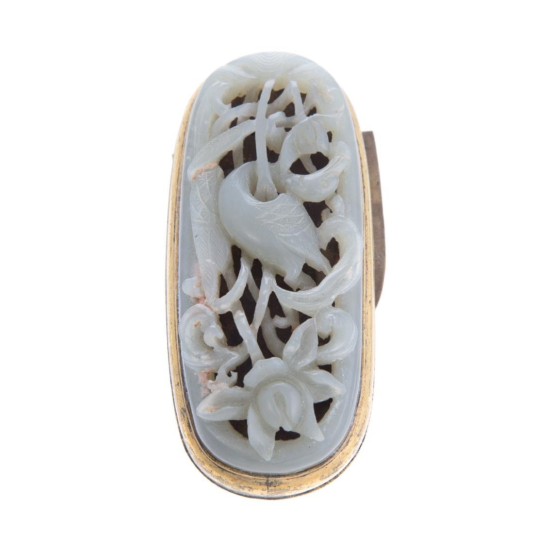 Chinese carved jade amulet