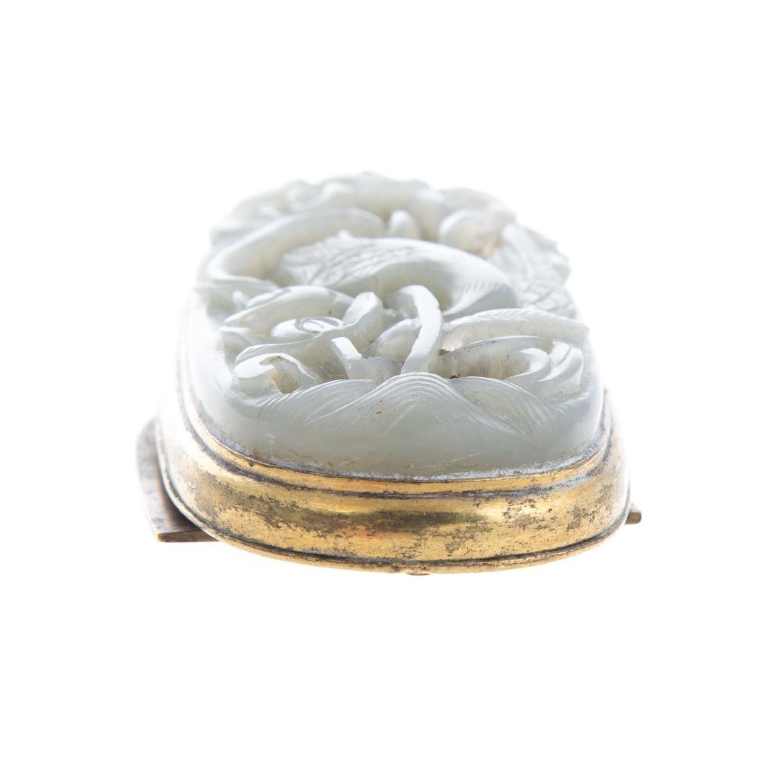 Chinese carved jade amulet - 3