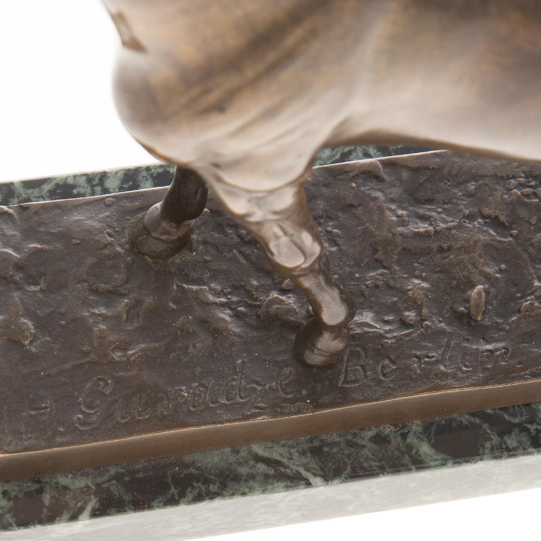 Hans Guradze. Standing Horse, bronze - 2