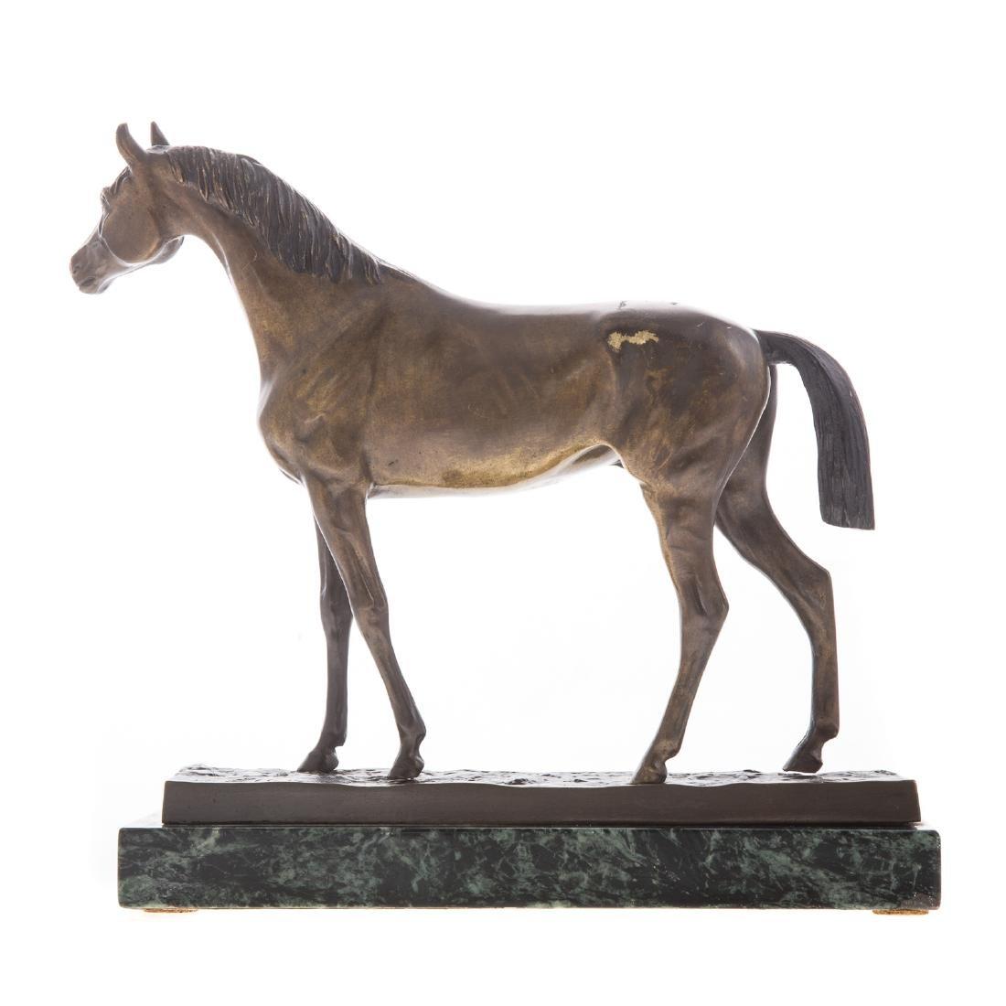 Hans Guradze. Standing Horse, bronze - 3