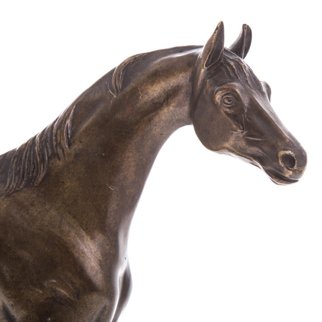 Hans Guradze. Standing Horse, bronze - 4