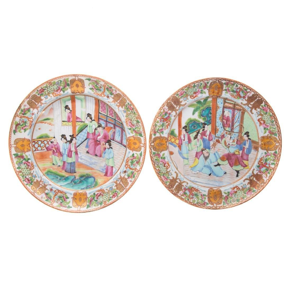 Five Chinese Export Rose Mandarin articles - 8