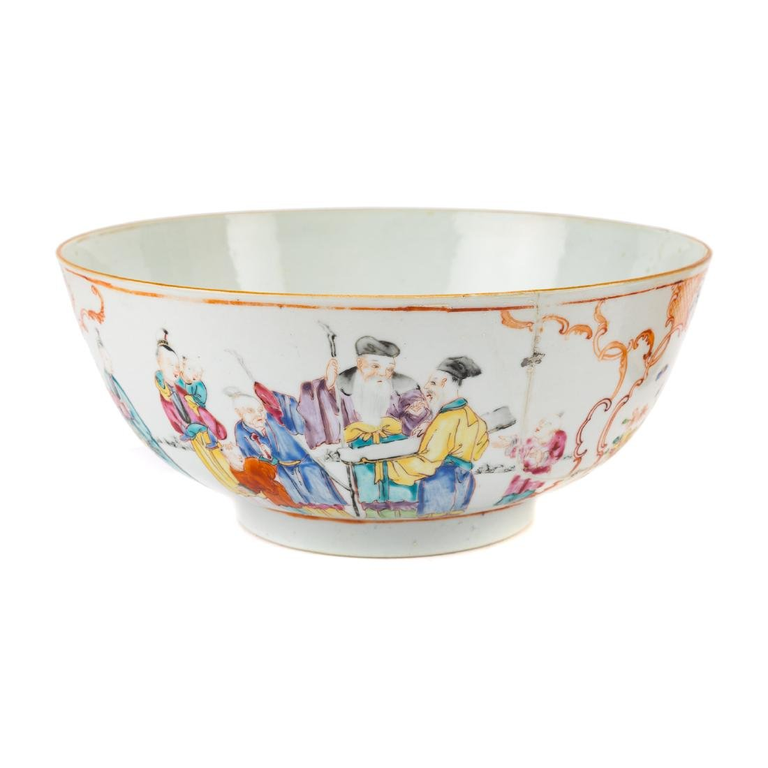 Chinese Export trumpet vase and bowl - 3