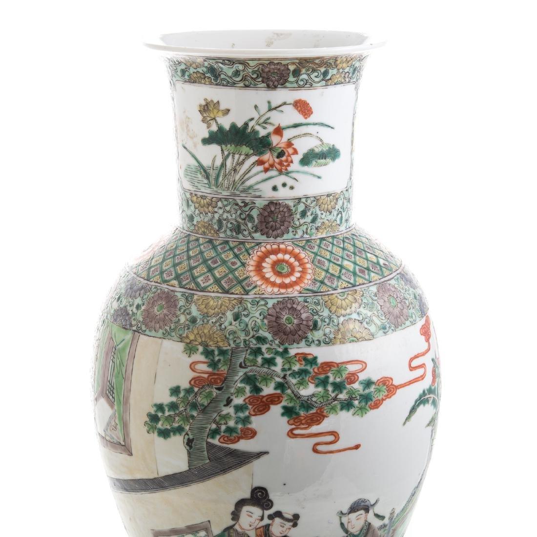 Chinese Export Famille Verte vase - 2