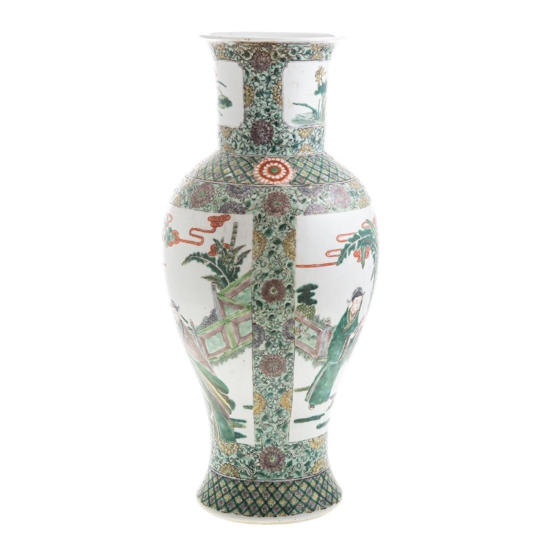 Chinese Export Famille Verte vase - 3