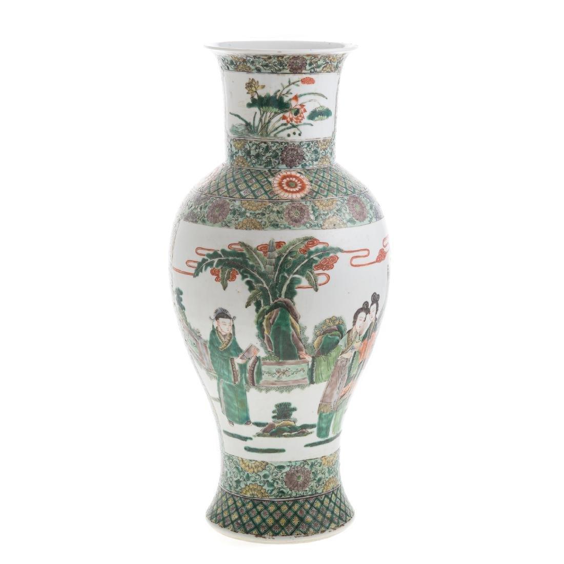 Chinese Export Famille Verte vase - 4