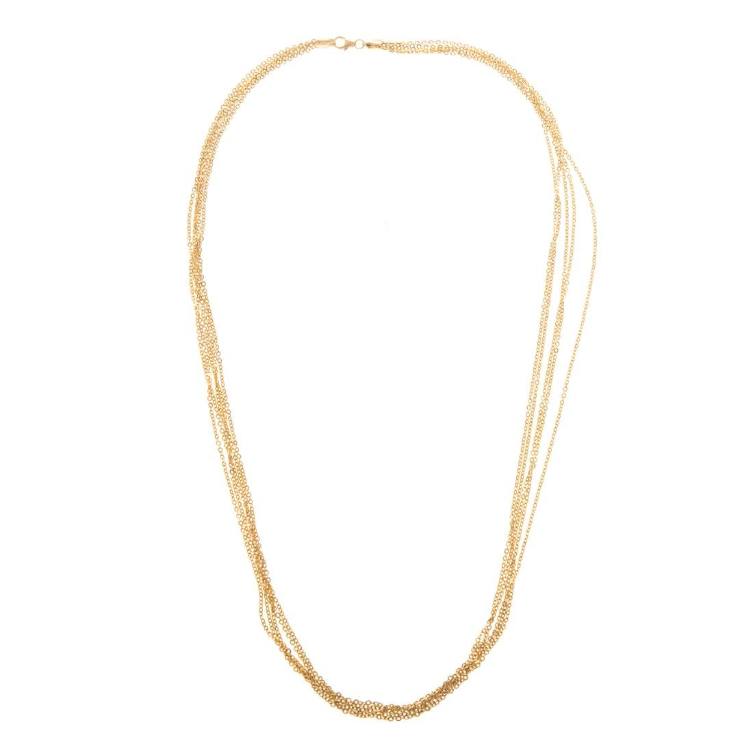 Two Lady's Necklaces in 14K Gold - 3