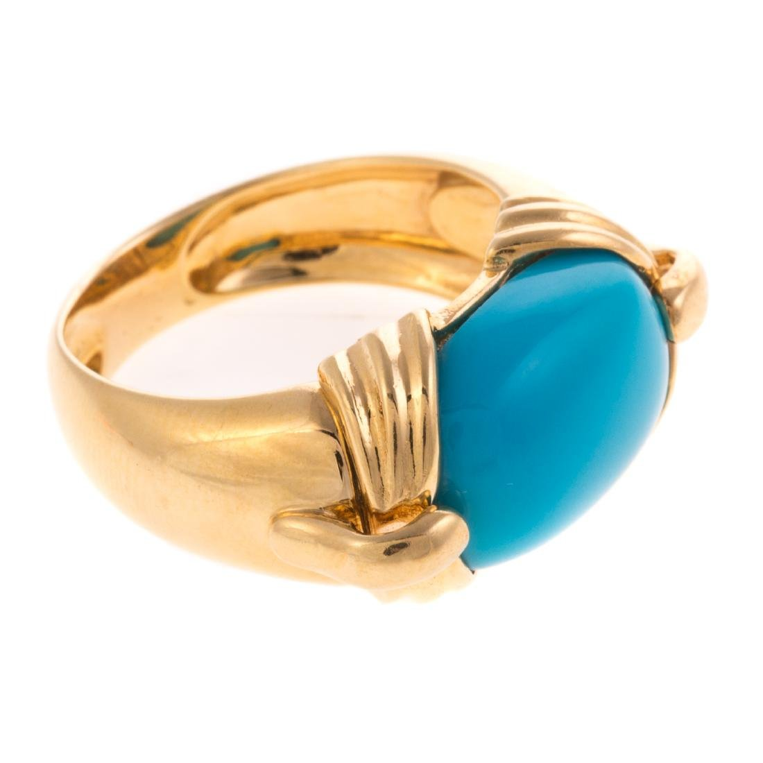 A Lady's Sleeping Beauty Turquoise Ring in 18K - 2