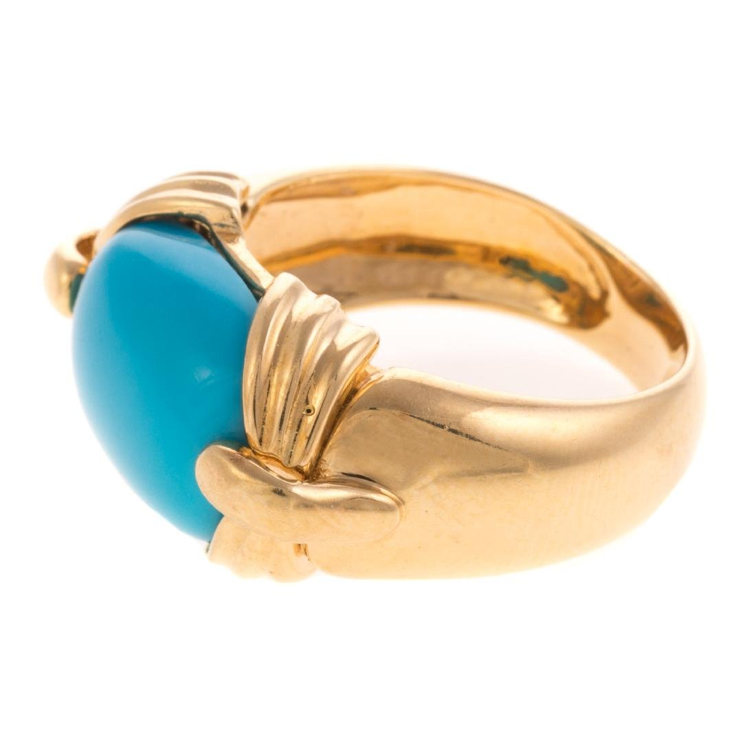 A Lady's Sleeping Beauty Turquoise Ring in 18K - 3