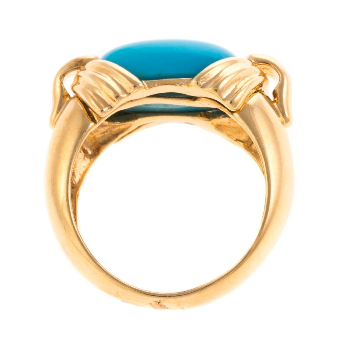 A Lady's Sleeping Beauty Turquoise Ring in 18K - 4