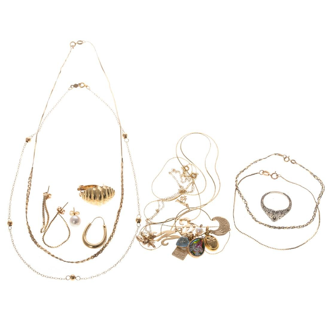 A Collection of Lady's Jewelry in 14K Gold