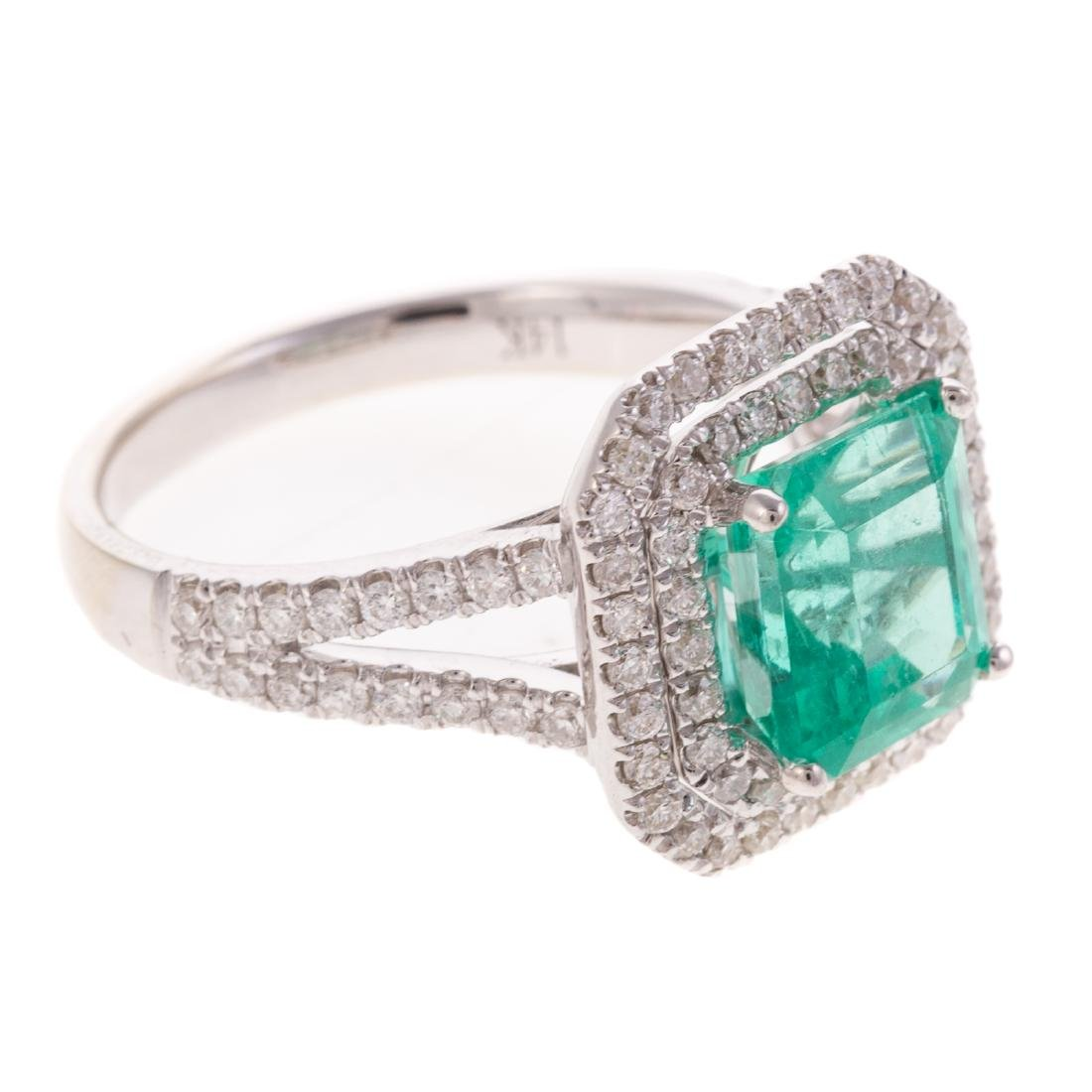 A 2.60ct Emerald & Diamond Ring in Gold - 2
