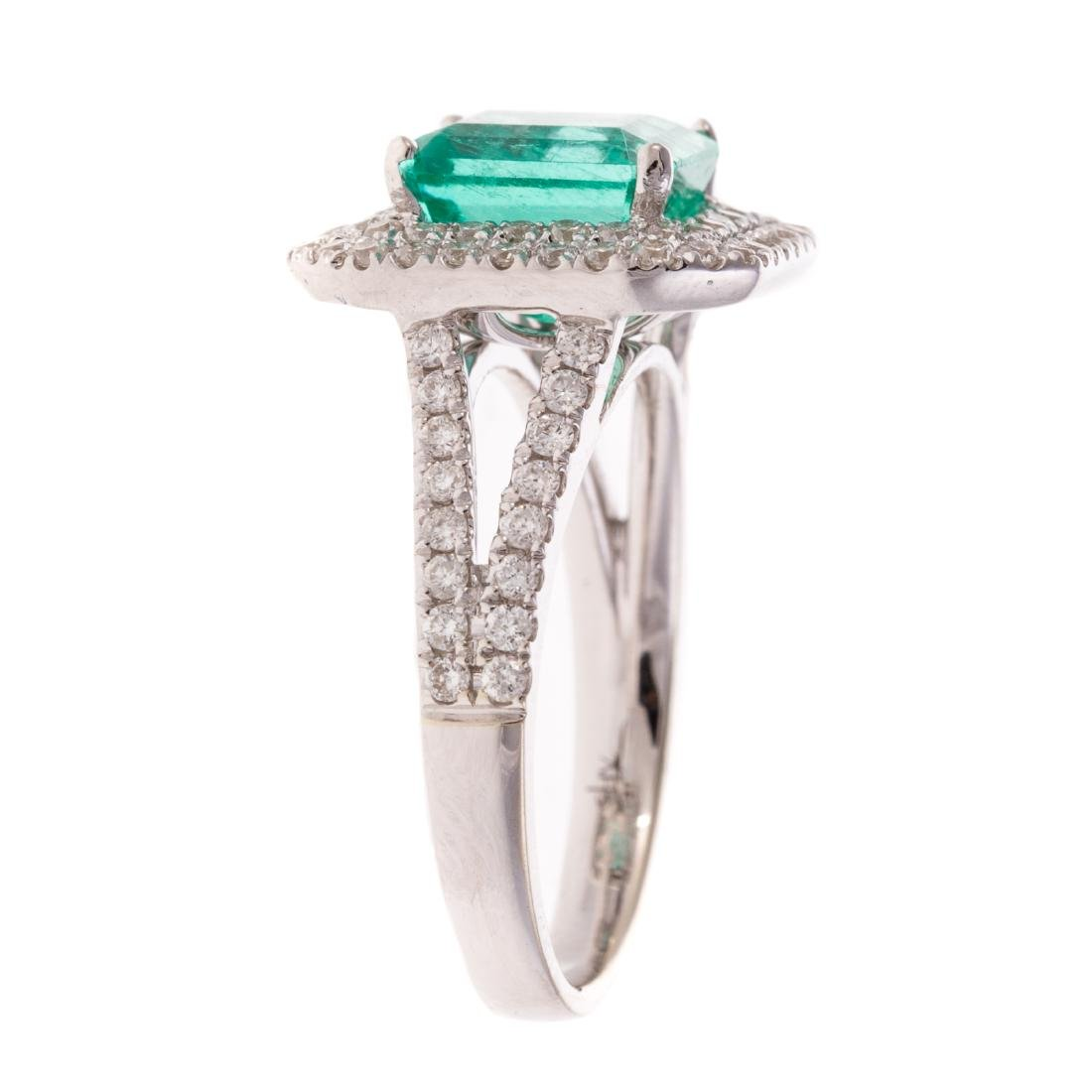 A 2.60ct Emerald & Diamond Ring in Gold - 3