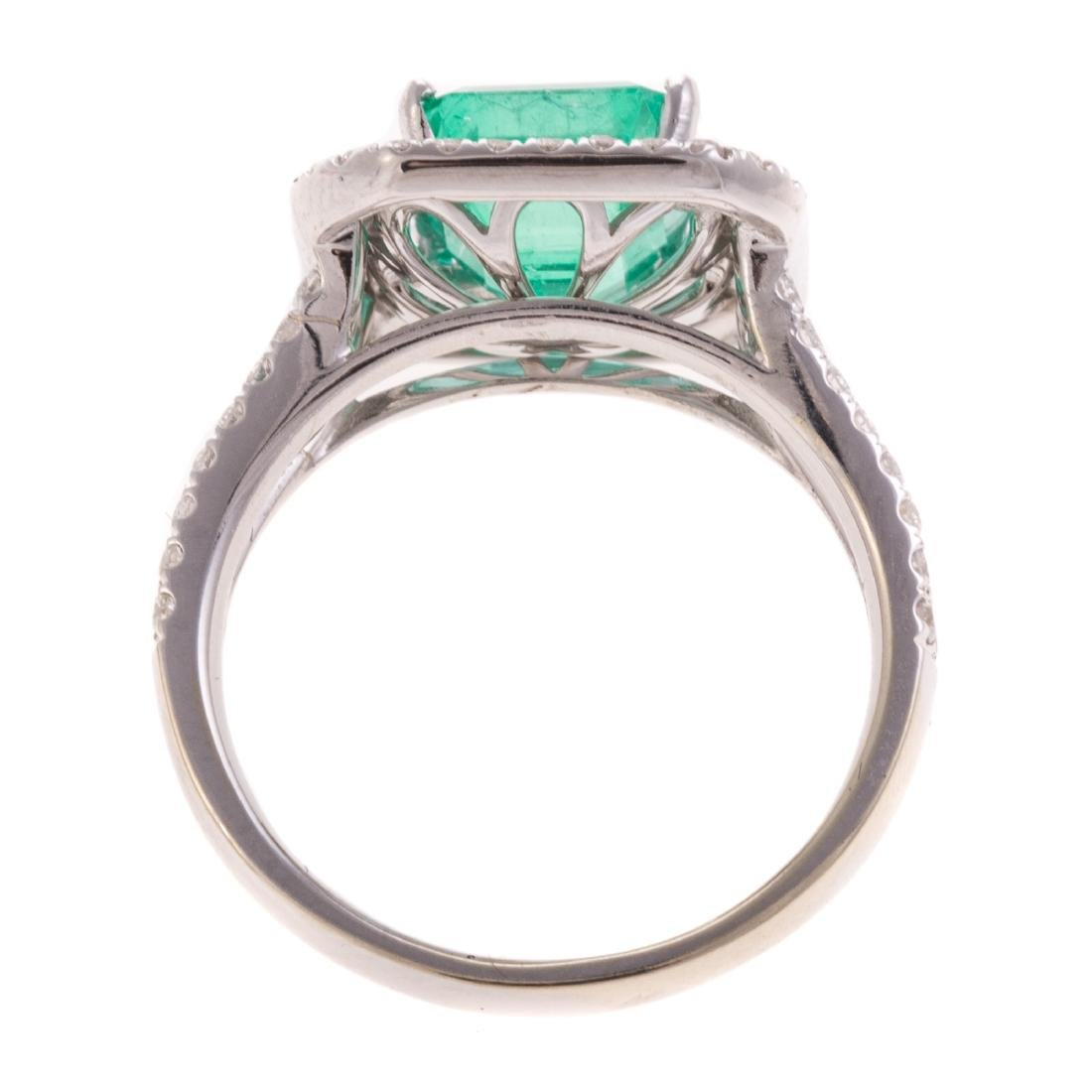 A 2.60ct Emerald & Diamond Ring in Gold - 4