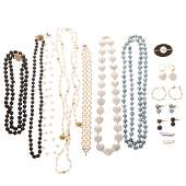 A Collection of Lady's Pearl Jewelry