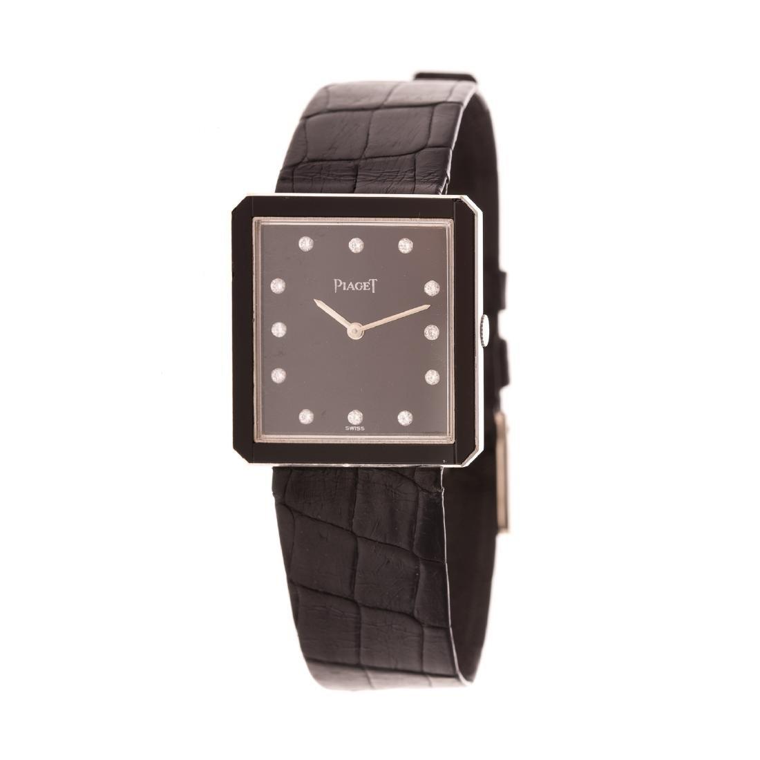 A Gentlemen's Piaget Watch with Diamonds in 18K - 2
