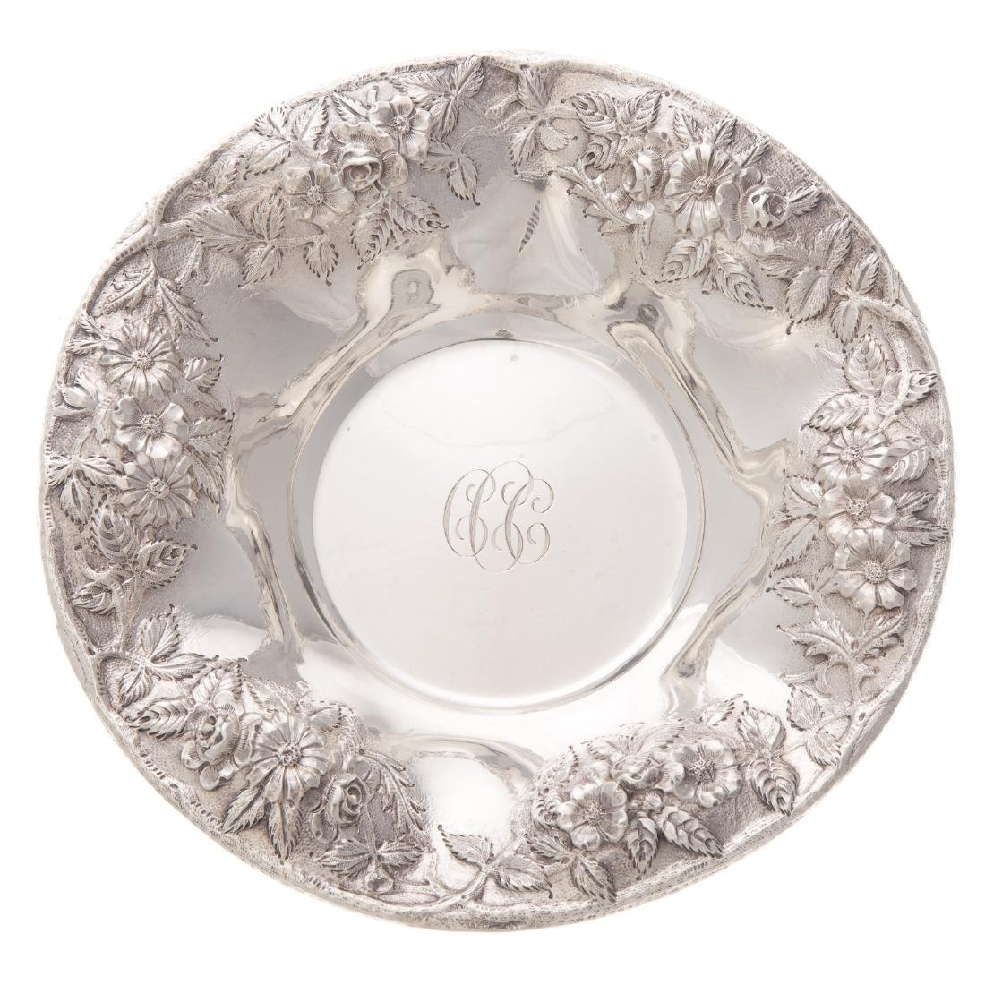 Kirk repousse sterling vegetable bowl