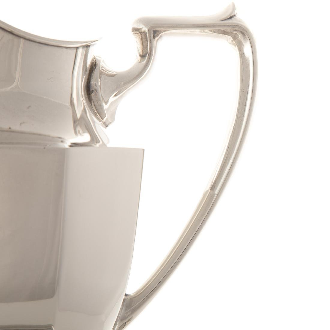 American sterling water pitcher and a tray - 2