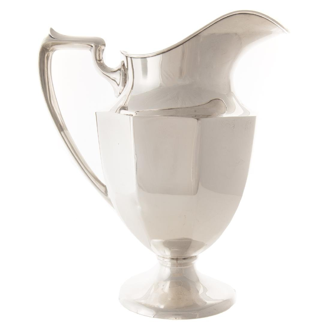 American sterling water pitcher and a tray - 3