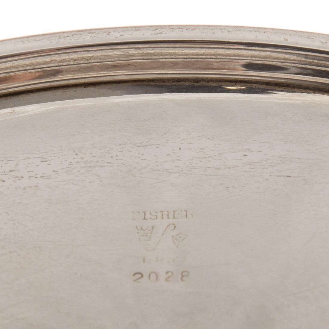 American sterling water pitcher and a tray - 5