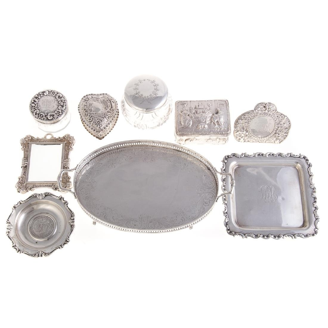 American & Continental silver vanity items