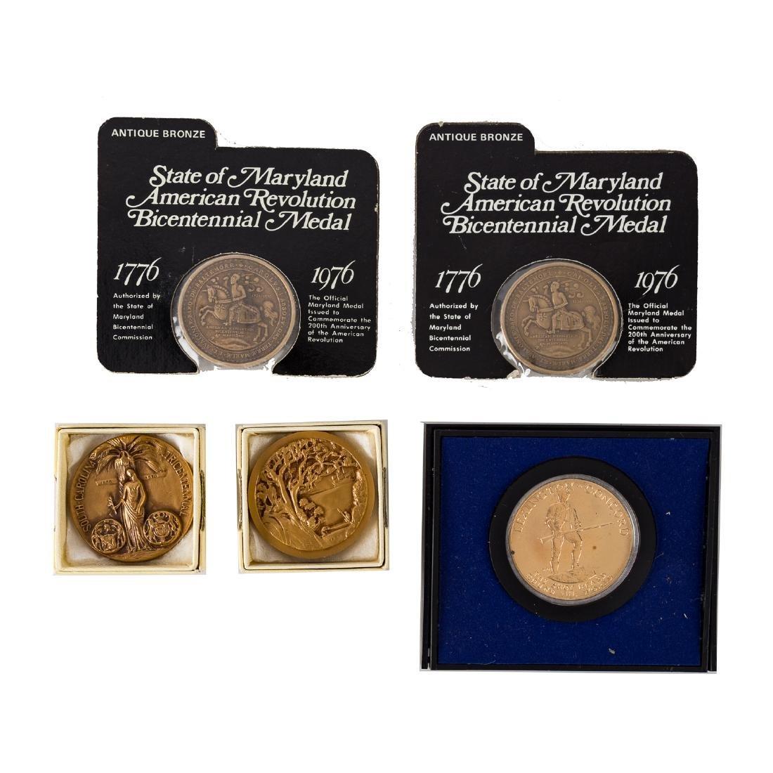 Collection of US Bicentennial era medals - 3