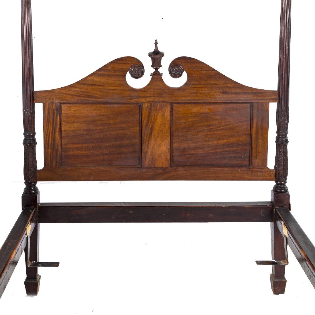 George III style carved mahogany tester bedstead - 3