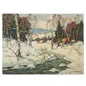 """John F. Enser. """"Early Snow, N.H."""""""