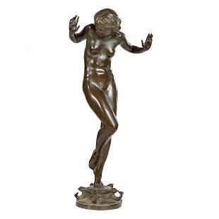 Harriet W. Frishmuth. Scherzo bronze fountain