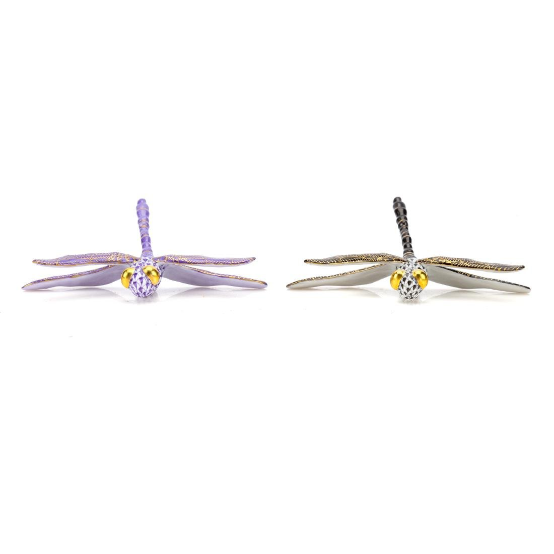 Two Herend porcelain dragonflies - 3
