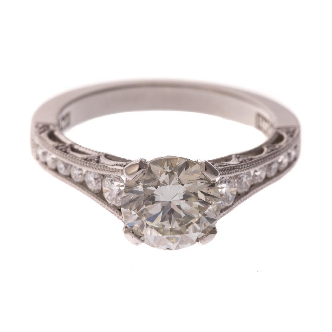 A Ladies 2.00ct Diamond Ring in Platinum by Tacori