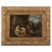 Flemish School, 17th c. Diana and Actaeon, oil