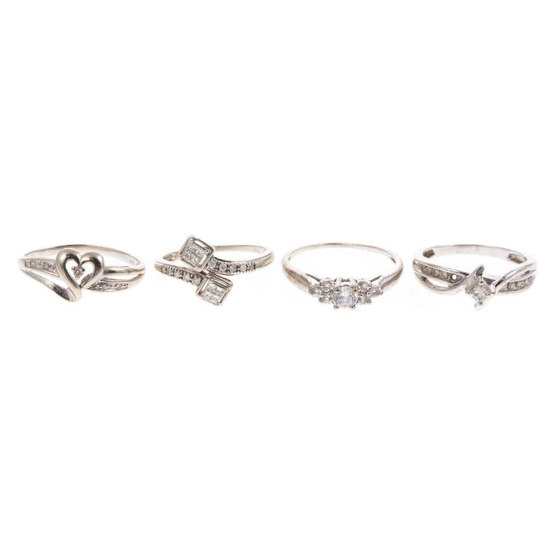 A Collection of Ladies White Gold Diamond Rings