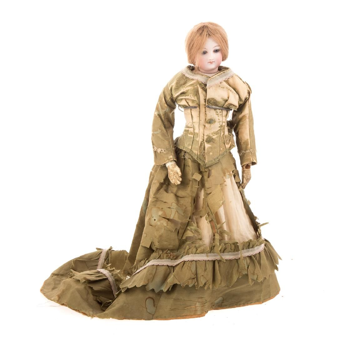 French bisque and kid body fashion doll